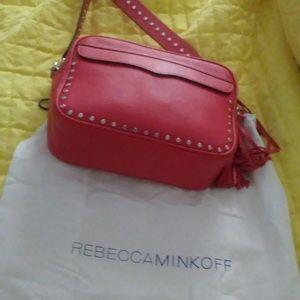 Rebecca Minkoff Studded Crossbody Red